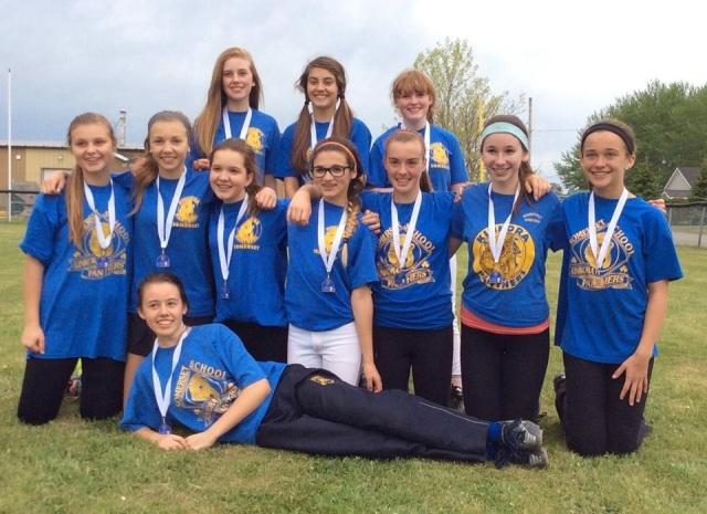 Girls Bronze Medallists